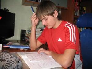 Антон, ученик репетитора по математике