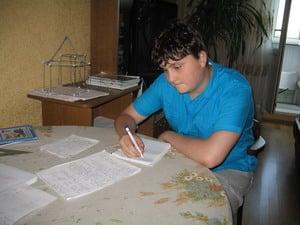 Илья, ученик репетитора по математике