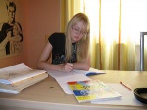 Аня, ученица репетитора по математике