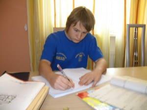 Павел, ученик репетитора по математике