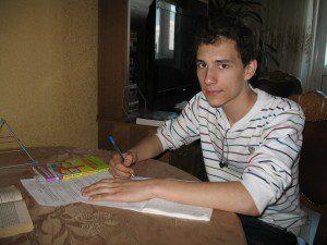 Саша, ученик репетитора по математике