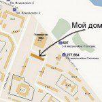 мой дом на карте Москвы