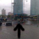 Остановка 277-го автобуса у метро Щукинская