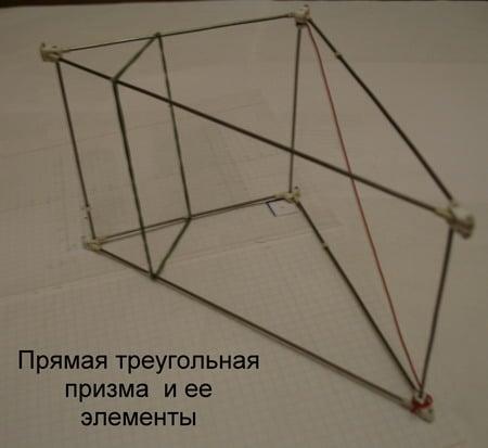Прямая треугольная призма.
