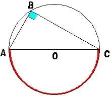 Второе следствие из теоремы о вписанном угле.Вписанный угол опирающийся на диаметр