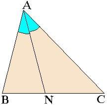 Свойство биссектрисы в треугольнике