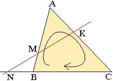 Теорема Менелая