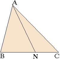 Теорема о разделительном отрезке в треугольнике