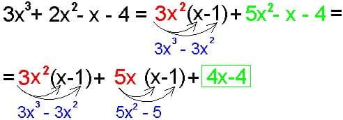 Он-лайн репетитор по математике. Выделение линейного множителя. Этап четвертый.