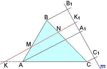 Методики репетитора по математике. Доказательство теоремы Менелая.
