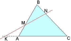 Репетитор по математике в работе с теоремой Менелая