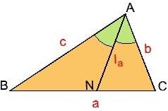 Для формулы биссектрисы в треугольнике