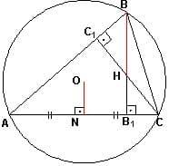 Справочник репетитора по математике. Свойство ортоцентра треугольника
