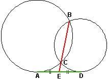 Справочник репетитора по математике. Свойство персекающихся окружностей