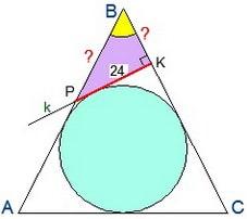 Поиск элементов треугольника BKP