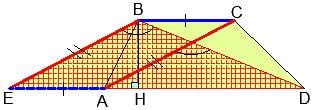Прием репетитора по математике. Сдвиг диагонали