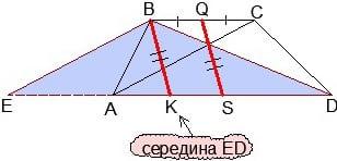 Свойство медианы треугольника EBD