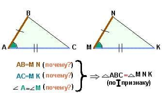 Как репетитор по математике оформляет 1-й признак