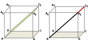 Репетитор по математике отмечает вершину на продолжении диагонали