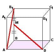 Материалы репетитора по математике - углы между прямыми. Задача 1