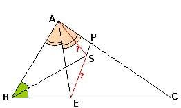 Рисунок репетитора по математике к задаче про биссектрисы