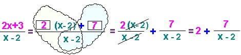 Как репетитор по математике показывает выделение целой части