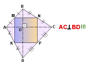 Прямоугольник из середин. Решение репетитора