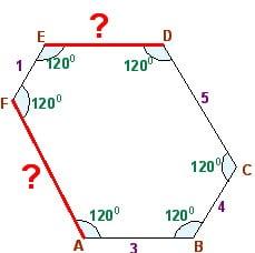 Олимпиадная задача по математике 7 класс на шестиугольник