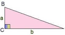Рисунок репетитора для подготовки к задаче B3 на ЕГЭ. Прямоугольный треугольник