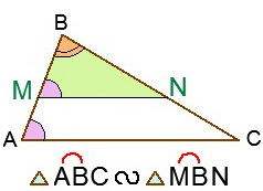 Отрезок, параллельный стороне треугольника