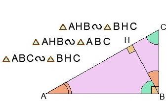 Подобие в прямоугольном треугольнике