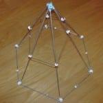 Правильная шестиугольная пирамида с сечением