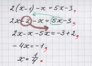 Пример оформления, с которым борется репетитор по математике
